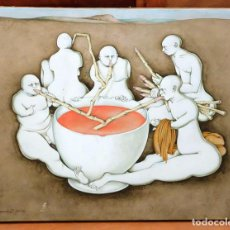 Arte: CARLOS BURO DE GRACIA (SANTANDER 1929) TECNICA MIXTA Y TEMPERA TABLA. AÑO 1975.TITULADO TALIOMIDICOS. Lote 94639835