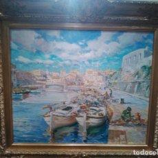 Arte: OLEO PÙERTO CIUDADELA PINTURA MALLORQUINA FIRMADO DENIS RUBIO VENTA DIRECTA 5300 EUROS. Lote 94692515