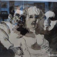 Arte: PEREZ BELLAS, AGUSTIN. (VIGO 1925-1982). TINTAS SOBRE CARTULINA.. Lote 120884514