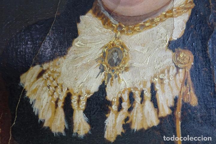 Arte: ELEGANTE RETRATO PINTADO SOBRE SOPORTE PEGADO A LIENZO DE DAMA DE LA NOBLEZA - FIRMADO SOBEJANO 1880 - Foto 4 - 121980987