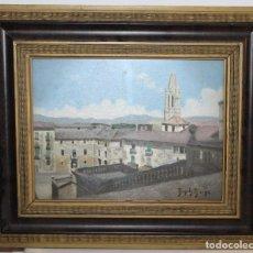 Arte: EUSEBIO BOSCH BIERGE (1900-1973) - ÓLEO SOBRE TABLA - PAISAJE URBANO. Lote 94960211