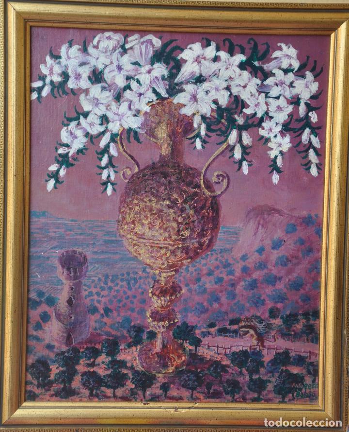 J. BOLA BARRIONUEVO - ACRILICO SOBRE LIENZO - ANTEQUERA - 1996 - TORREMOLINOS (Arte - Pintura - Pintura al Óleo Contemporánea )