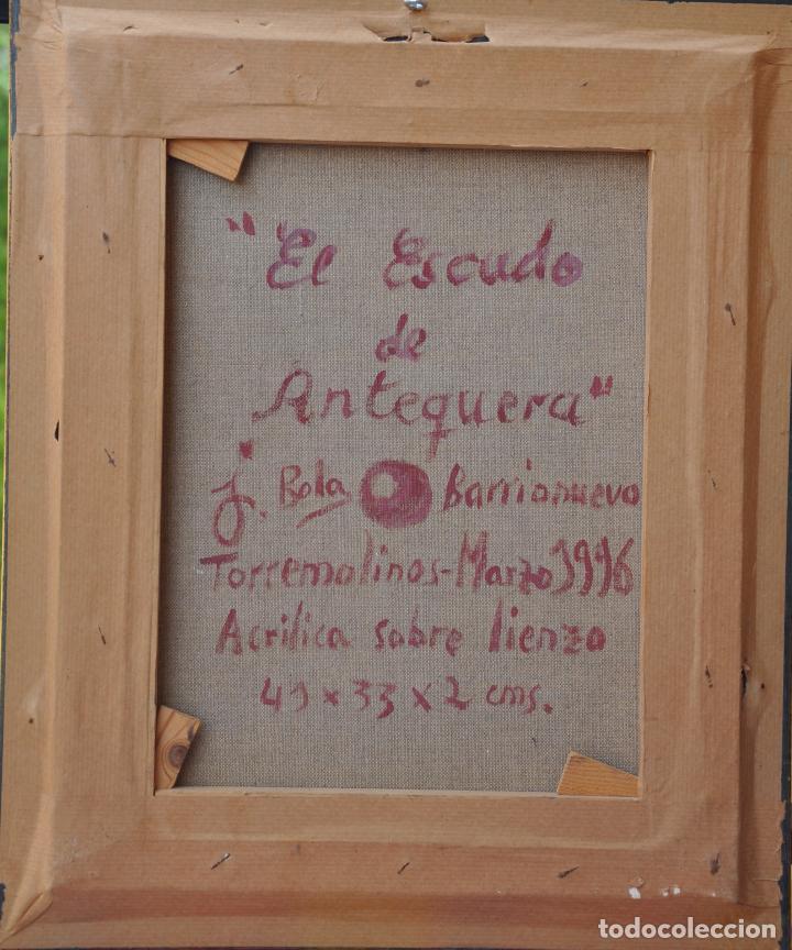 Arte: J. BOLA BARRIONUEVO - ACRILICO SOBRE LIENZO - ANTEQUERA - 1996 - TORREMOLINOS - Foto 5 - 94995011
