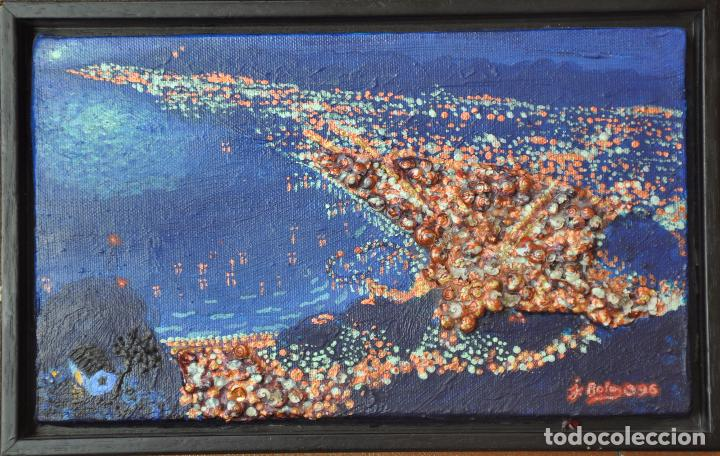Arte: J. BOLA BARRIONUEVO - TECNICA MIXTA SOBRE LIENZO - LITORAL DE MALAGA 1996 - Foto 4 - 94995191