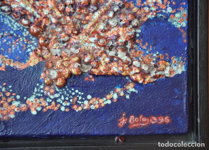 Arte: J. BOLA BARRIONUEVO - TECNICA MIXTA SOBRE LIENZO - LITORAL DE MALAGA 1996 - Foto 5 - 94995191