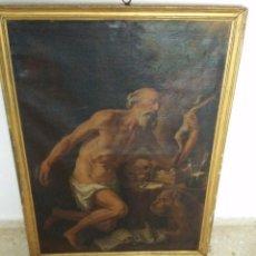 Arte: ÓLEO SOBRE LIENZO SAN JERÓNIMO PENITENTE SIGLO XVII. Lote 95091343
