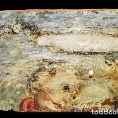 Arte: ANTIGUA TABLA DE RETABLO CON ANGEL BARROCO. MUY ESPECIAL.. Lote 28322909