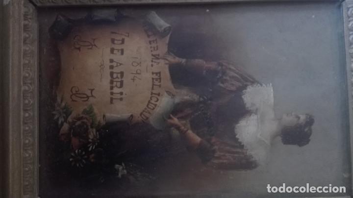 Arte: cuadro antiguo óleo sobre tabla - Foto 2 - 95133883