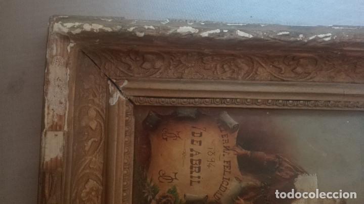 Arte: cuadro antiguo óleo sobre tabla - Foto 3 - 95133883