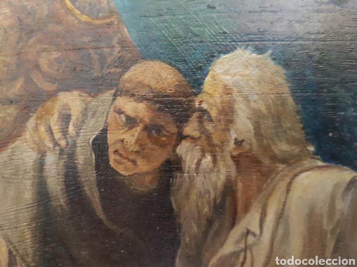 Arte: ULTIMA CONFESIÓN, EXTREMAUNCIÓN. ANTIGUO OLEO CON MARCO ORO GRUÑIDO. 32x26cm - Foto 4 - 95277871