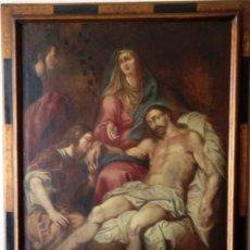 Arte: ÓLEO S/LIENZO -PIEDAD-. ESC. ITALIANA S. XVII. BIEN ENMARCADO Y REENTELADO DE ÉPOCA. 164X123 CMS. Lote 95286543