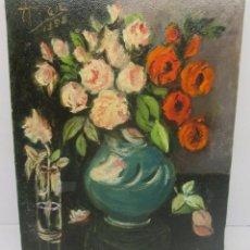 Arte: PEQUEÑO CUADRO, ÓLEO SOBRE LIENZO, FIRMADO ALBERTO GIL 1996. Lote 95312563