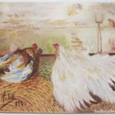 Arte: PEQUEÑO CUADRO, ÓLEO SOBRE LIENZO, FIRMADO ALBERTO GIL 1983. Lote 95313051