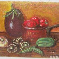 Arte: PEQUEÑO CUADRO, ÓLEO SOBRE LIENZO, FIRMADO ALBERTO GIL 1983. Lote 95313115