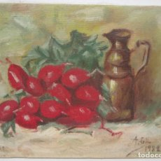 Arte: PEQUEÑO CUADRO, ÓLEO SOBRE LIENZO, FIRMADO ALBERTO GIL 1982. Lote 95313495