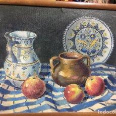 Arte: PRECIOSO OLEO BODEGON SOBRE TABLA - MEDIDA MARCO 58X46 CM. Lote 95370071
