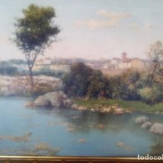 Arte: FRANCISCO CORDERO (1851-1892) PAISAJE S.XIX ÓLEO SOBRE LIENZO. Lote 95401263