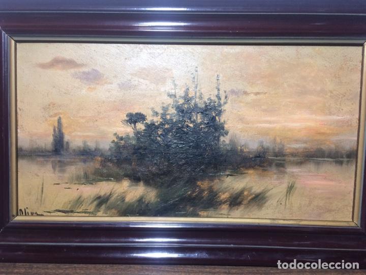 OLEO SOBRE TABLA FIRMADO OLIVA (Arte - Pintura - Pintura al Óleo Antigua sin fecha definida)