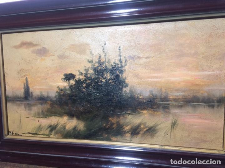 Arte: Oleo sobre tabla firmado Oliva - Foto 2 - 95435571