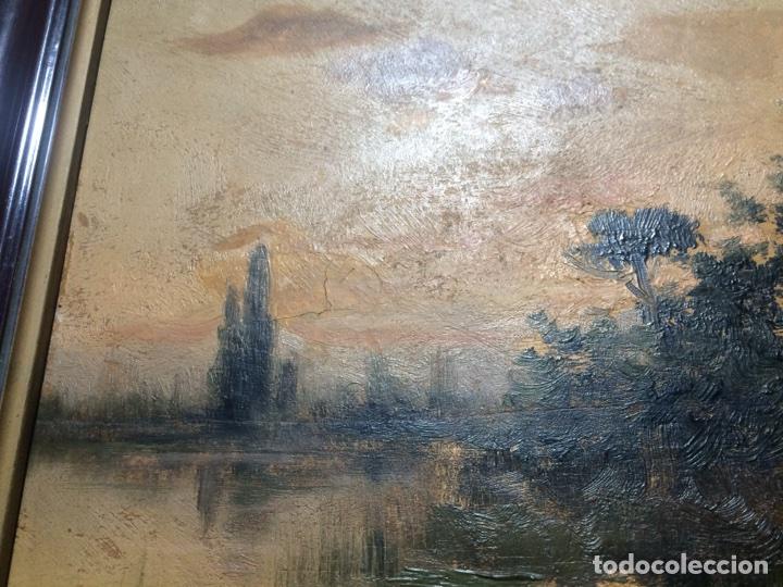 Arte: Oleo sobre tabla firmado Oliva - Foto 4 - 95435571