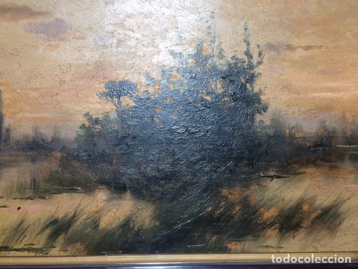 Arte: Oleo sobre tabla firmado Oliva - Foto 5 - 95435571