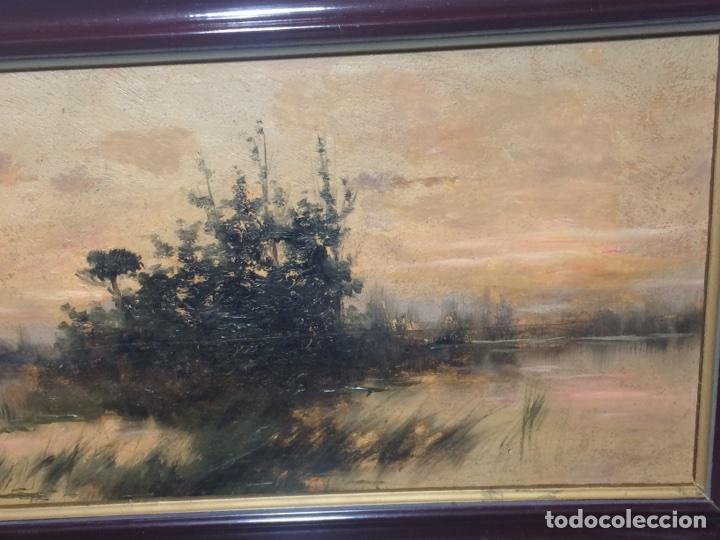 Arte: Oleo sobre tabla firmado Oliva - Foto 6 - 95435571