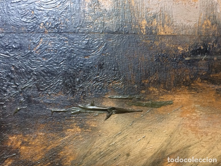 Arte: Oleo sobre tabla firmado Oliva - Foto 8 - 95435571