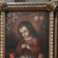 Arte: ÓLEO SOBRE LIENZO XVII NIÑO JESÚS . Lote 95485008