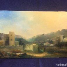 Arte: VISTA DE MELILLA AMANECER BRUMA 1965 CABRERAS ALTAS SIDI GUARIACH FIRMA ILEGIBLE 22X33CMS. Lote 95486011