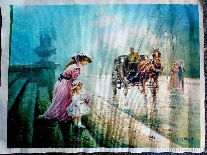 PARISIEN. PINTOR TOMÁS MARTORELL. ÓLEO SOBRE LIENZO. MEDIDAS 54 X 66 CMS.REPRODUCCION DEL ORIGINAL . (Arte - Pintura - Pintura al Óleo Contemporánea )