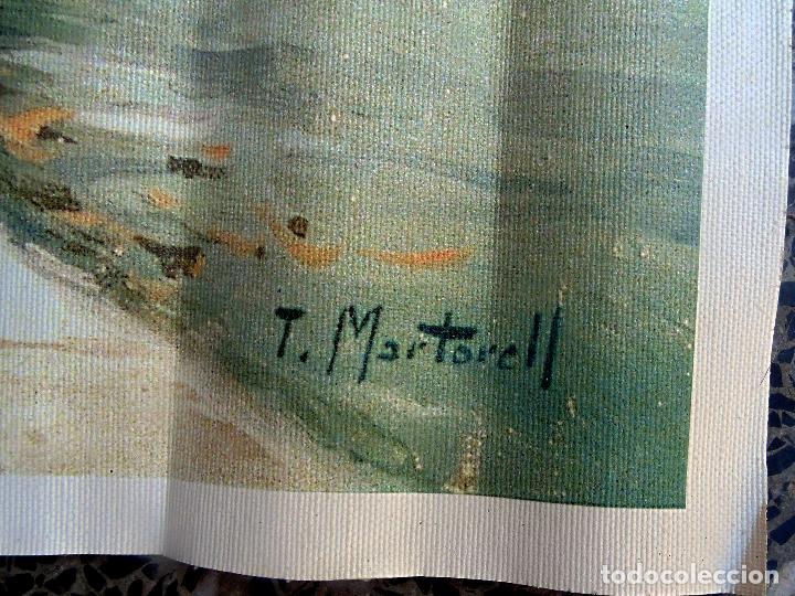 Arte: Parisien. Pintor Tomás Martorell. Óleo sobre lienzo. Medidas 54 x 66 CMS.Reproduccion del original . - Foto 2 - 95493891