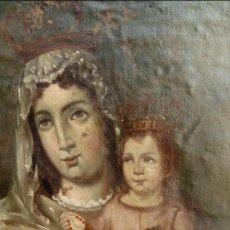 Arte: ÓLEO S/LIENZO -VIRGEN DEL ROSARIO-.BIEN ENMARCADO DE ÉPOCA. 79,5X62,5 CMS. ESCUELA ESPAÑOLA S. XVII. Lote 95673015
