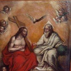 Arte: ÓLEO S/LIENZO -SANTÍSIMA TRINIDAD-. MUY BIEN ENMARCADO. 92X75 CMS. ESCUELA ESPAÑOLA.. Lote 95683711