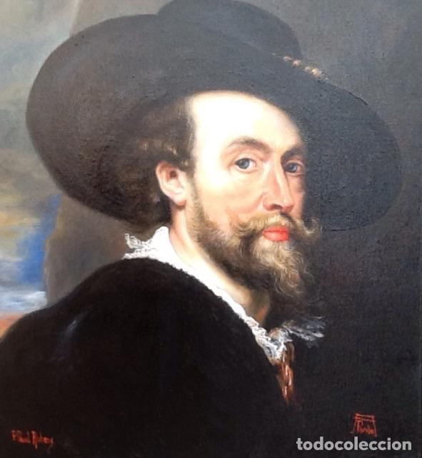 Arte: Oleo sobre lienzo copia de RUBENS. Titulo de la obra Retrato. Autora Ana Pardo. - Foto 3 - 40903802