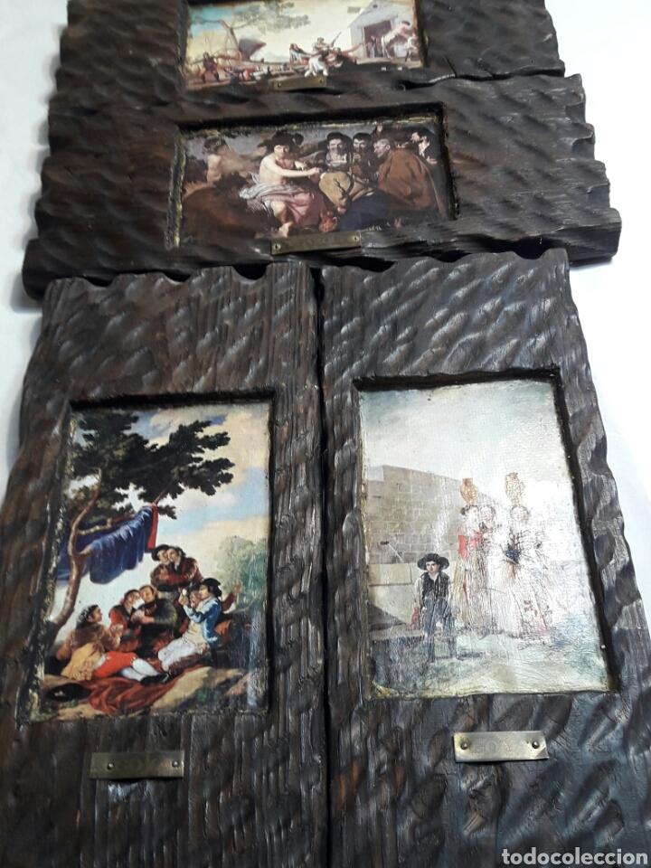 LOTE 4 CUADROS TOTALMENTE RÚSTICOS HECHOS A MANO (Arte - Pintura - Pintura al Óleo Contemporánea )