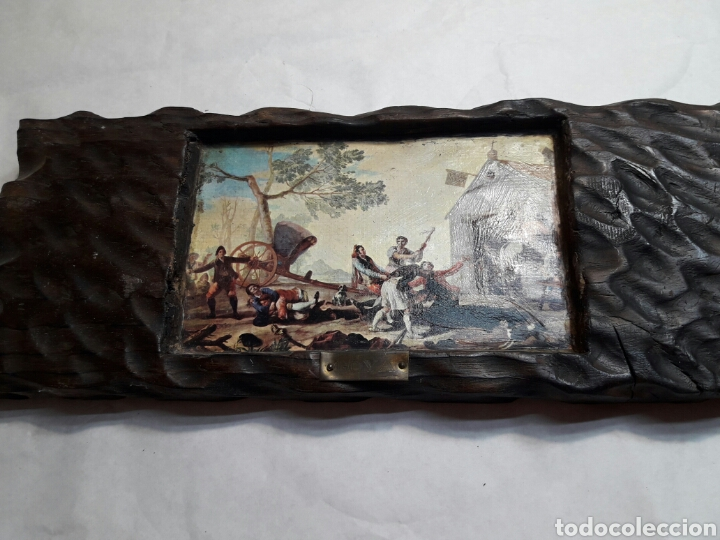 Arte: Lote 4 cuadros totalmente rústicos hechos a mano - Foto 5 - 95732163