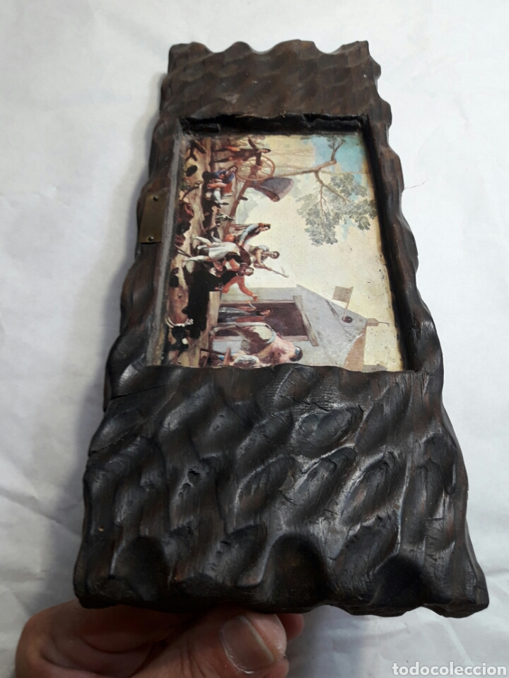 Arte: Lote 4 cuadros totalmente rústicos hechos a mano - Foto 6 - 95732163