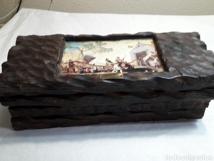 Arte: Lote 4 cuadros totalmente rústicos hechos a mano - Foto 8 - 95732163