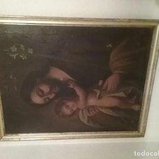 Arte: GRAN PINTURA DE PPOS DEL SIGLO XVIII DE SAN JOSE CON EL NIÑO JESUS. OLEO SOBRE LIENZO . Lote 95850831