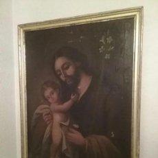 Arte: GRAN PINTURA DE PPOS DEL SIGLO XVIII DE SAN JOSE CON EL NIÑO JESUS. OLEO SOBRE LIENZO. Lote 95850831