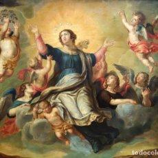 Arte: MONUMENTAL OBRA DE ESCUELA ESPAÑOLA DEL SIGLO XVII. OLEO SOBRE COBRE. 70 CM. X 88 CM.. Lote 96074395