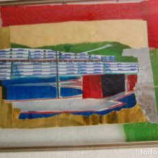 Arte: COLLAGE A CONTRALUZ . 45X32 CM. CONJUNTO RESIDENCIAL DEL ARQ. CORRALES EN EL BARRIO DE LAS FLORES.. Lote 96102131