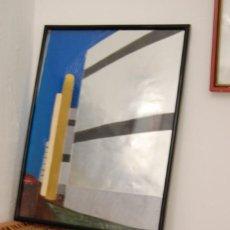 Arte: COLLAGE (A CONTRALUZ SE APRECIA MEJOR EL ESPACIO). 42X30CM. ESC. ARTES Y OFICIOS P. PICASSO (CORUÑA). Lote 96102287