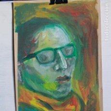 Arte: RETRATO EXPRESIONISTA ACRILICO SOBRE PAPEL. FIRMADO LOLAILA CARMONA.33,5X20CM. Lote 96145743