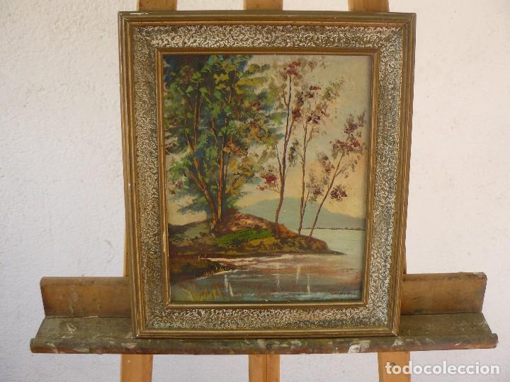 OLEO SOBRE TABLEX - FIRMADO MAX - PAISAJE (Arte - Pintura - Pintura al Óleo Contemporánea )