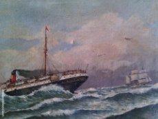 Resultado de imagen de barco de vapor siglo xix oleo cadiz
