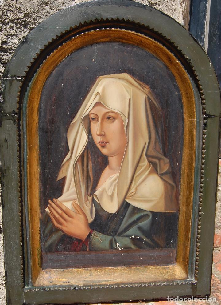 Arte: Retrato de Isabel I La Católica. Oleo sobre tabla. 44 cm de base y 61cm. de altura - Foto 2 - 96097607