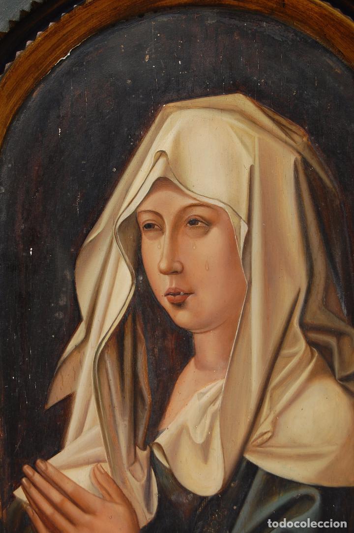 Arte: Retrato de Isabel I La Católica. Oleo sobre tabla. 44 cm de base y 61cm. de altura - Foto 3 - 96097607