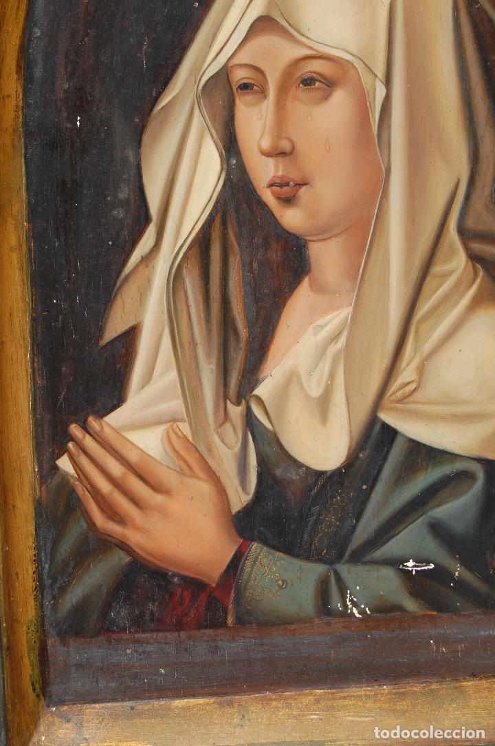 Arte: Retrato de Isabel I La Católica. Oleo sobre tabla. 44 cm de base y 61cm. de altura - Foto 4 - 96097607