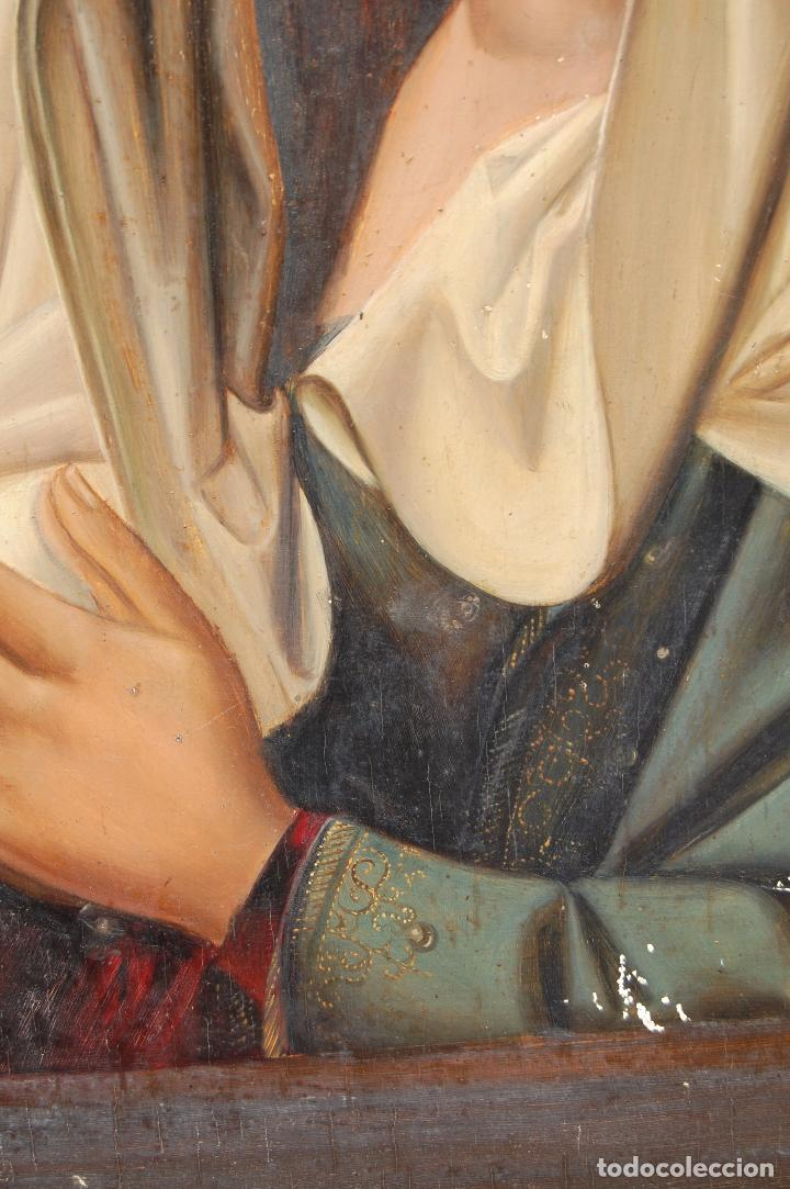 Arte: Retrato de Isabel I La Católica. Oleo sobre tabla. 44 cm de base y 61cm. de altura - Foto 6 - 96097607